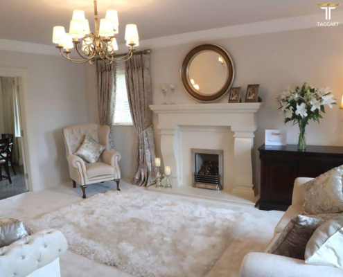 beautiful interior living room by Taggart homes destination derry