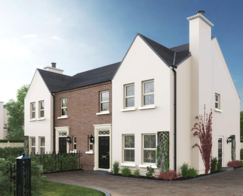 semi detached house by Taggart homes destination derry