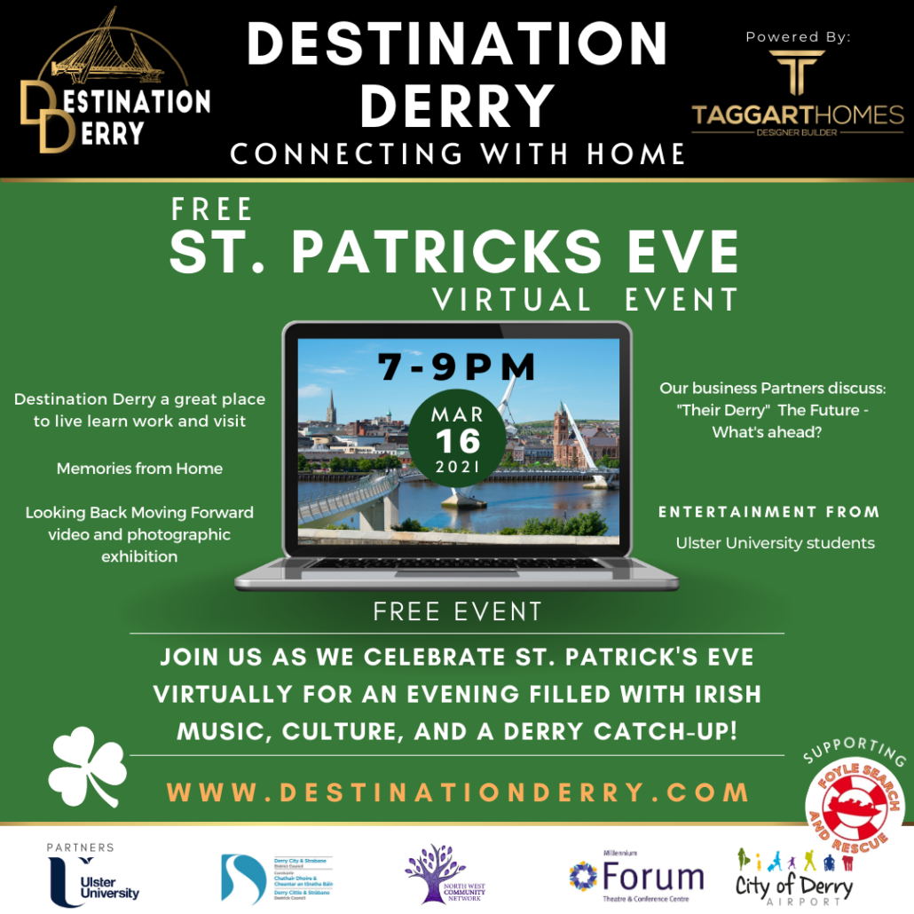 Destination Derry St Patricks virtual event